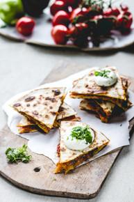Apricot Salsa Quesadillas - (Free Recipe below)
