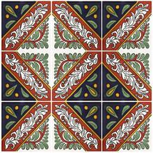 """Talavera Tile - TIL052 - Pack of 9 - 4"""" x 4"""""""