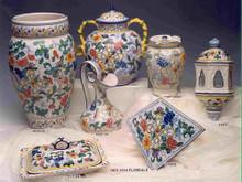 Floreal Ceramic Big Jar with Snake Handles