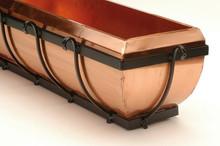 """Classic Copper Window Box Planter 30"""""""