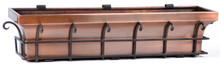 """Copper Flared Window Box Planter 36"""""""