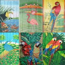 Birds Bamboo Beaded Curtain - choose from many styles