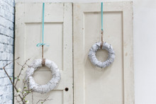 "Birch Bark Wreath - 9.5 "", 13.5"" & 17.5""d"