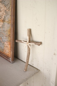 DRIFTWOOD CROSS WITH STARFISH DETAIL