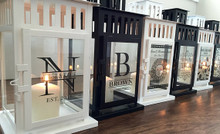Personalized Lanterns - Black or White - select from 8 designs