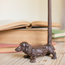 CAST IRON DACHSHUND PAPER TOWEL HOLDER (MIN 2)