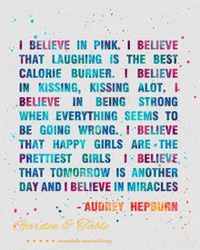 I believe in Pink. I believe that laughing .... #Quotes