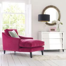 Dream Chaise Longue in Velvet or Cotton / Linen