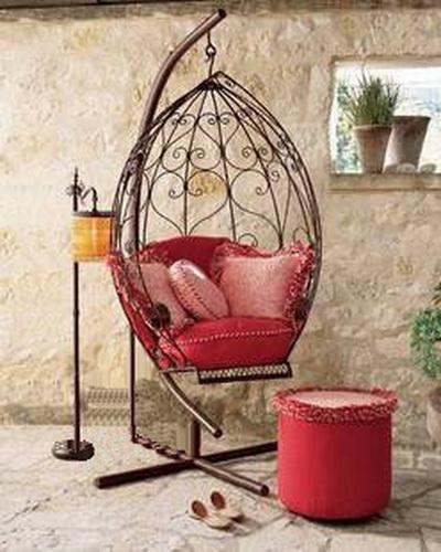 European Modern Wrought Iron Swing Chair