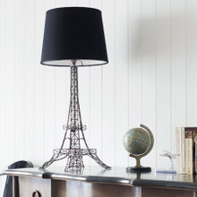 Eiffel Tower Lamp With Black Shade