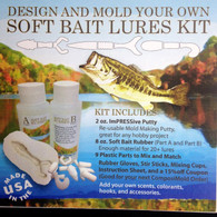 Design and Mold your Own Soft Bait Lures with this Kit.