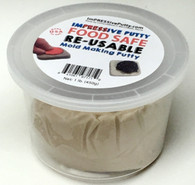 Food Safe Reusable Molding Putty ImPRESSive Putty 16 oz (1 pound) size for chocolate molds, fondant molds, and small isomalt molds that can be remelted and reused to make more molds any time you want.