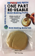 Food Safe Reusable Molding Putty ImPRESSive Putty 1.5 oz Starter kit size for small chocolate molds, fondant molds, and small isomalt molds that can be remelted and reused to make more molds any time you want.