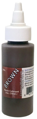 Brown colorant, dye, pigment, 2 ounces of color for epoxy resin