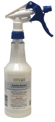 Bubble Buster to reduce bubbles from sticking to your part while making the mold. 4 fl. oz.