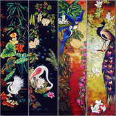 Asian Panels Decorative Tile Modern Home Decor