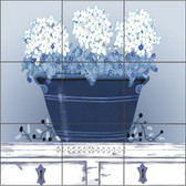 Blue & White Art Decorative Tile Mural
