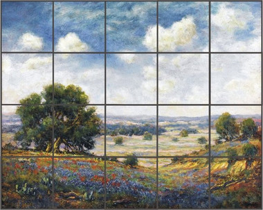Bluebonnet Ceramic Tile Mural