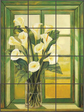 Calla Lily  Artistic Tile Mural Custom Backsplash