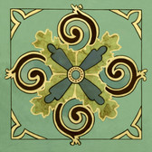 Floret Swirl Back Splash Tile