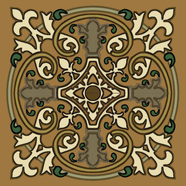 french circle backsplash tile, decorative tile designs by Connie's Custom Creations