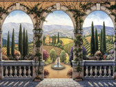 Arched View Decorative Tile Mural