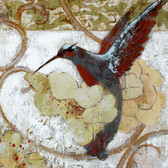 Hummingbird  Art Tile Ceramic Wall Hanging