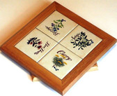 Lazy Susan With Herb Art Tiles