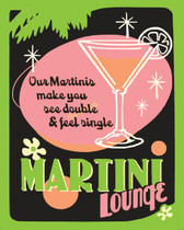 Martini Bar Art Tile