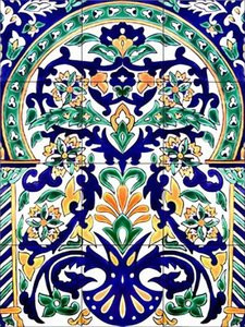 Moroccan Artistic Tile Mural For Your Kitchen Or Bathroom