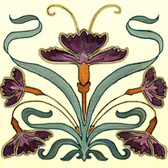 Nouveau Artistic Tile, Decorative Tile Designs by Connie's Custom Creations