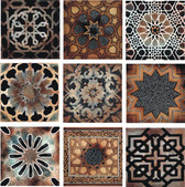 old world stone tile set, decorative tile designs by connies custom creations