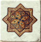 vintage star stone tile backsplash, decorative tile designs by connies custom creations