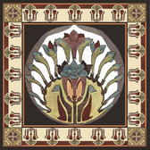 Tulip Fan Nouveau Artistic Backsplash Accent Tile