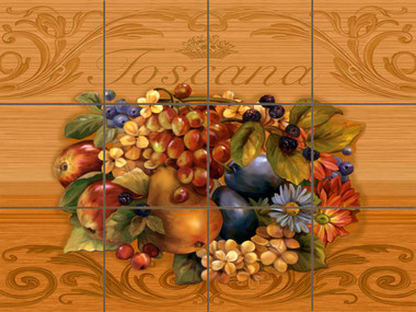 Tuscana Ceramic Tile Mural by Connie's Custom Creations