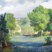 Bluebonnet Landscape Art Tile