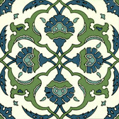 Blue Green Backsplash Artistic Tile by Connies Custom Creations