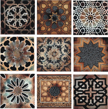 old world stone tile set, artistic tile designs by connies custom creations