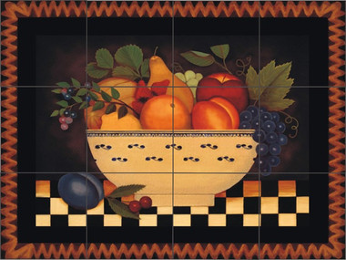 Fruit Bowl Artistic Tile Mural