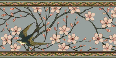 Birds and Blossoms Border Tile