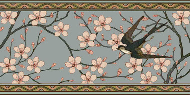 Birds and Blossoms II Border Tile