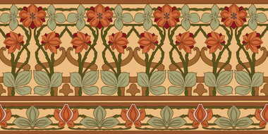 Nouveau Seasons Border Tile