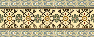 Arts & Crafts Ceramic Tile Mural Backsplash