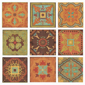 Indian Summer Back Splash Tile Set