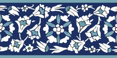 Istanbul Floral Border Ceramic Back Splash Tile