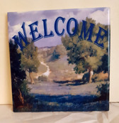 "Bluebonnet Welcome 6"" Art Tile"