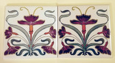 Two Nouveau Design Backsplash Tiles Size 6""