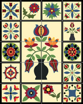 German Tole Ceramic Tile Mural