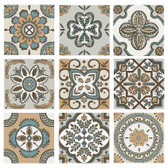 Boho Artistic Ceramic Decorative Backsplash Tile Set for Sale