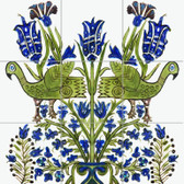 Persian Bird of Paradise Tile Mural